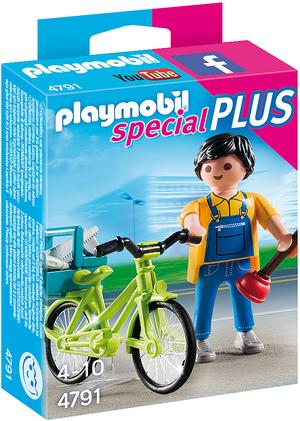 playmobil Handwerker mit Fahrrad 4791