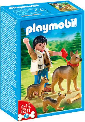 playmobil Schäferhündin mit Welpen 5211A1