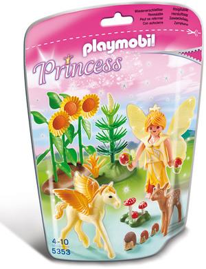 "playmobil Waldfee mit Pegasusbaby ""Goldstaub"" 5353"