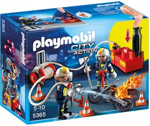 playmobil Feuerwehrmänner mit Löschpumpe 5365A1