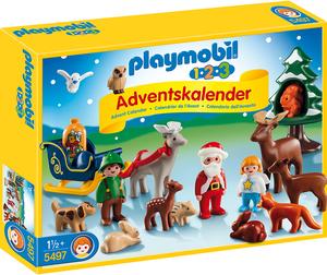 """playmobil 1.2.3 Adventskalender """"Waldweihnacht"""" 5497"""