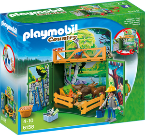 "playmobil Aufklapp-Spiel-Box ""Waldtierfütterung"" 6158"