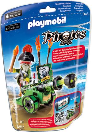 playmobil playmobil Grüne App-Kanone mit Piratenkapitän 6162