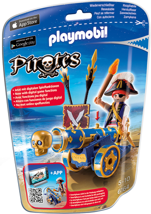 playmobil playmobil Blaue App-Kanone mit Piraten-Offizier 6164