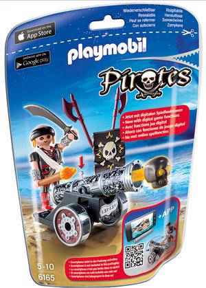 playmobil playmobil Schwarze App-Kanone mit Seeräuber 6165A1