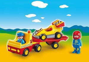 playmobil Rennauto mit Transporter 6761