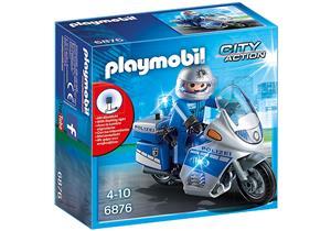 playmobil Motorradstreife mit LED-Blinklicht 6876