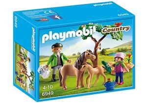 playmobil Ponymama mit Fohlen 6949A1