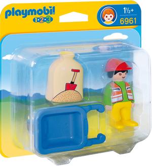 playmobil Bauarbeiter mit Schubkarre 6961