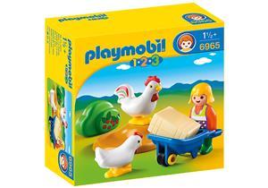 playmobil Bäuerin mit Hühnern 6965