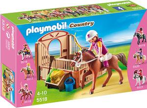 playmobil Shagya Araber mit braun-beiger Pferdebox 5518A1