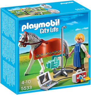 playmobil Röntgentierarzt mit Appaloosa 5533