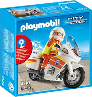 playmobil Notarzt-Motorrad mit Blinklicht 5544