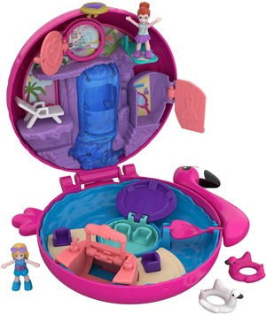 polly pocket Flamingo Schwimmring, Pocket World, Polly und Lila, Zubehör, 4+ 57007338