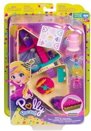 polly pocket Geburtstag Pocket World, Puppen Polly und Lila, Zubehör, ab 4+ 57007349