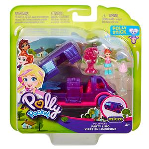 polly pocket Party Limousine Pollyville, Puppe Lila, Zubehör, ab 4+ 57007341