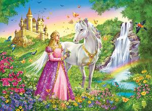 Ravensburger Puzzle Prinzessin mit Pferd 200 Teile XXL, 49x36 cm, grosse Teile ab 8+ 126132