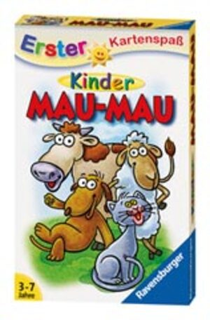Ravensburger Mau Mau für Kinder, d 3-7 Jahre, 2-4 Spieler, Spieldauer 10-15 Min. 204304