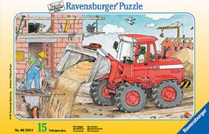 Ravensburger Puzzle mein Bagger 15 Teile, Rahmenpuzzle, 25x14.5 cm, ab 3 Jahren 60006359