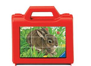 Ravensburger Würfelpuzzle Tiere 12 Teile, Kunststoff, 16x22 cm, im Koffer 60007412