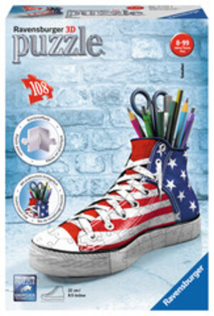 Ravensburger Puzzle 3D Sneaker American Style, 108 Teile Kunststoff, 21.5x12 cm, ab 8 Jahren 60012549