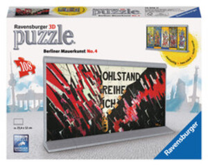 Ravensburger Puzzle 3D Mauerkunst No.4 zweiseitig, 108 Teile, 21x12x4 cm, ab 9 Jahren 60012576