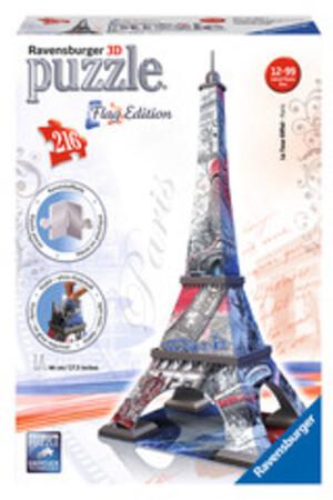 Ravensburger Puzzle 3D Eiffelturm Flag Edition, 216 Teile, Höhe 44 cm, ab 12 Jahren 60012580