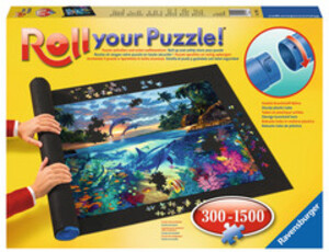 Ravensburger Puzzlematte Roll your Puzzle für 300-1500 teilige Puzzles rutschfester Filz, 110x66 cm 60017956