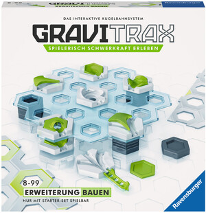Ravensburger GraviTrax Bauen, d/f/i Erweiterung zu Kugelbahn Bausystem, ab 8+ 60527596