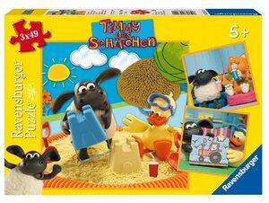 Ravensburger Puzzle Timmy puzzelt 3x49 Teile, 18x18 cm, ab 5 Jahren 93120