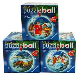 Ravensburger Ravensburger Puzzleball Weihnachten assortiert 60 Teile, verschiedene Motive, eines wir PuzzleballW