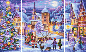 SCHIPPER Arts & Crafts Malen nach Zahlen - Weisse Weihnacht (Triptychon) 609260730