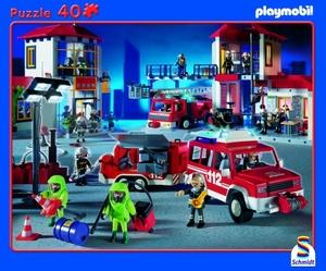 Schmidt Spiele RAPU, Playmobil - Feuerwehr, 40 Teile SV 55723