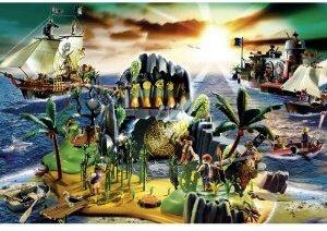 Schmidt Spiele Playmobil, Pirateninsel 150 Teile (inkl.Original-Figur) 56020A1