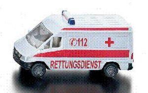 Siku Krankenwagen 1:64, Metall, Plastik Siku 8056