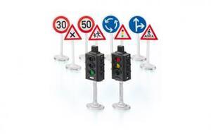 Siku Ampeln mit Verkehrstafeln 10-teilig, Kunststoff, Siku World 5597