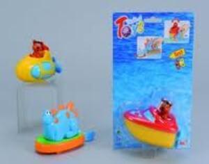Boot zum Aufziehen mit Tier 13 cm, 3-fach (eines wird geliefert assortiert 72903415