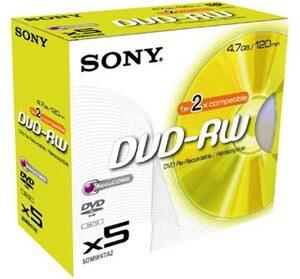 SONY SONY DVD-RW Jewel 4.7GB 5DMW47A