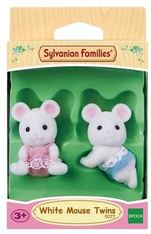 Sylvanian Families White Mouse Twins SV 5077A1