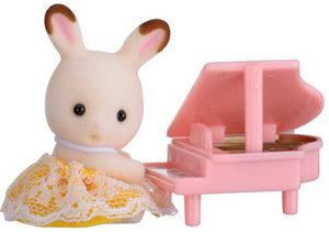 Sylvanian Families Baby Carry Case (Rabbit with Piano) 5202