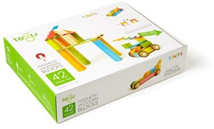 tegu Magnetisches Holzset farbig 42 Teile 42P-TNT-306T