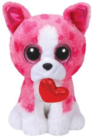 TY Romeo,Hund pink m. Herz 15cm SV 36864
