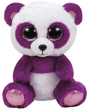 TY Boom Boom,Panda violet/weiss 24cm 37088