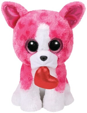 TY Romeo,Hund pink m. Herz 24cm 37162A1