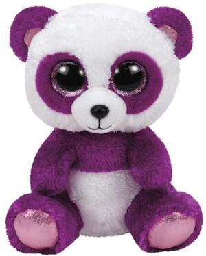 TY Boom Boom,Panda violet/weiss 15cm 37207