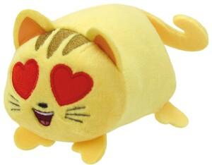TY Emojis,Katze mit Herzaugen 10cm 42233