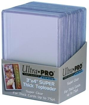 "Ultra PRO 3""x4"" Toploader Thick 75PT 81347"