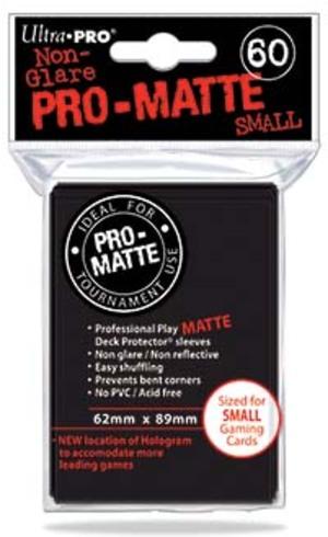 Ultra PRO Black PRO-Matte Deck Protector Small (60) 84021