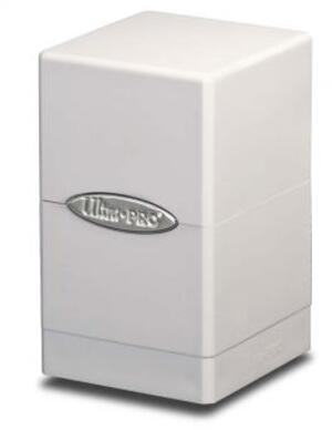 Ultra PRO Satin Tower Deck Box - White 84172