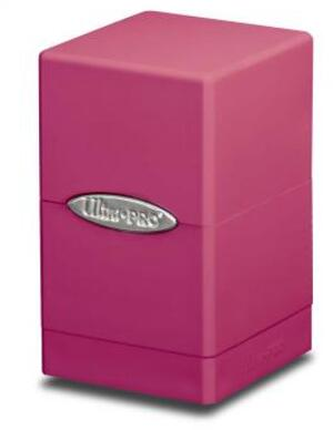 Ultra PRO Satin Tower Deck Box - Bright Pink 84178